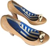 Celine Camel Leather Heels