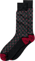 Perry Ellis Men's Medallion-Print Socks