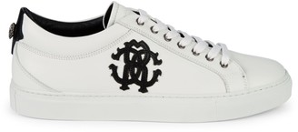 Roberto Cavalli Logo Leather Sneakers