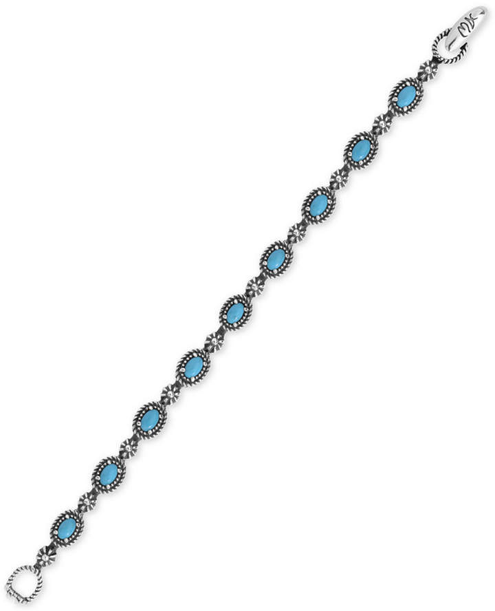 American West Turquoise Tennis Bracelet (5-1/2 ct. t.w.) in Sterling Silver