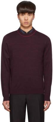 Paul Smith Purple Knit Crewneck Sweater