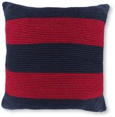 Nautica Heritage Colorblock Collection Nantucket Mainsail Striped Chunky Knit Square Pillow