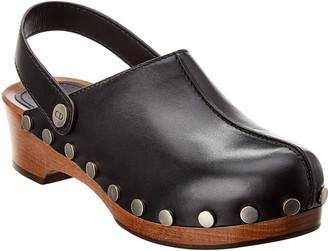 Christian Dior Diorquake Slingback Leather Clog