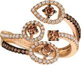 LeVian Le Vian Chocolatier® Chocolatier Diamond Bypass Statement Ring (5/8 ct. t.w.) in 14k Rose Gold