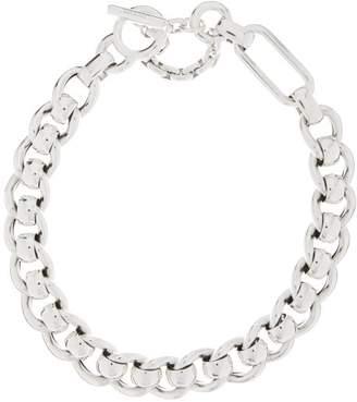 Bottega Veneta T-bar Sterling-silver Chain Necklace - Womens - Silver