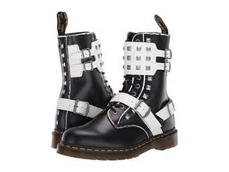 Dr. Martens 1490 Joska Stud (Black/White Rolled Vintage Smooth/Smooth) Shoes