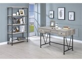 Lund Writing Desk with Bookcase 17 Stories Color: Antique