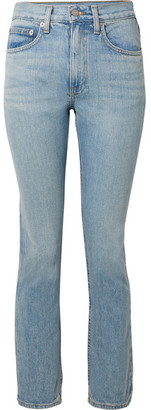 Brock Collection Wright High-rise Straight-leg Jeans - Light denim
