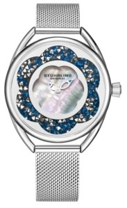 Stuhrling Original Women's Silver Tone Mesh Stainless Steel Bracelet Watch 38mm