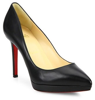 Christian Louboutin Pigalle 100 Leather Platform Pumps