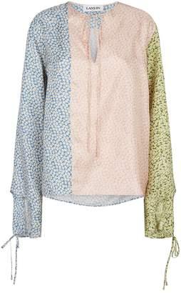 Lanvin Silk Floral Blouse