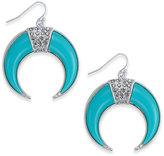 Thalia Sodi Silver-Tone Pavandeacute; Blue Horn Drop Earrings, Created for Macy's