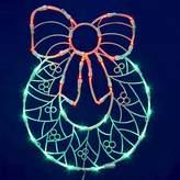 "Vickerman 35 LED Light Wreath Window Décor - Green/Red (17x13"")"