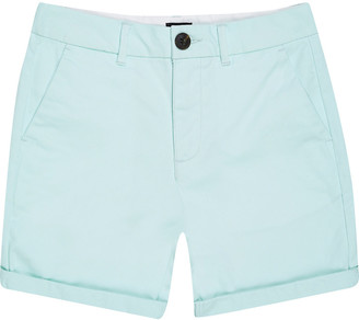 River Island Boys light green chino shorts