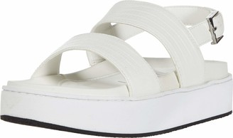 Calvin Klein Women's Jolie Casual Flatform Sandal White