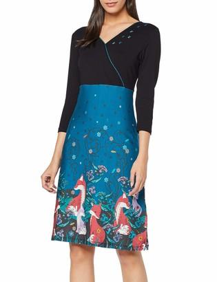 Joe Browns Women's Feeling Foxy Dress Black (Black Multi (Size:18)