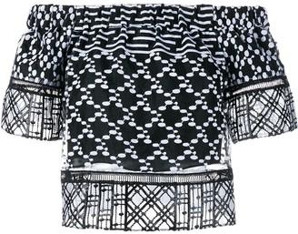 Jonathan Simkhai Embroidered Blouse