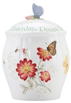Lenox Butterfly Meadow Sentiment Cookie Jar, Cherish Yesterday Dream Tomorrow Live Today