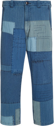 Blue Blue Japan Sashiko Yarn-Dyed Patchwork Pants