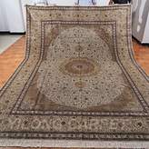 Yilong 9'x12' 250Line Handmade Silk on Silk Oriental Persian Carpet Traditional Area Rugs