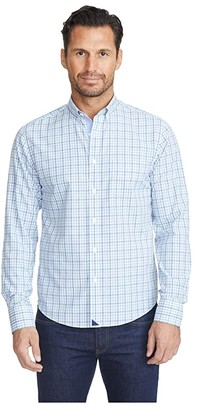 UNTUCKit Wrinkle-Free Vicchio Shirt (Blue) Men's Long Sleeve Button Up