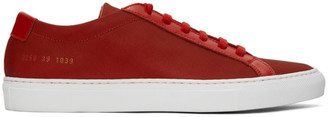 Common Projects Red Metal Mesh Achilles Low Sneakers