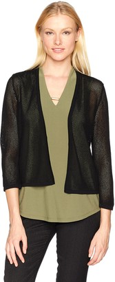 Jones New York Women's Cropped 3/4 SLV Cardi