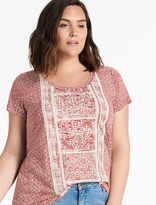Lucky Brand Spiced Red Printed Tee