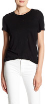 Black Orchid Distressed Linen Tee