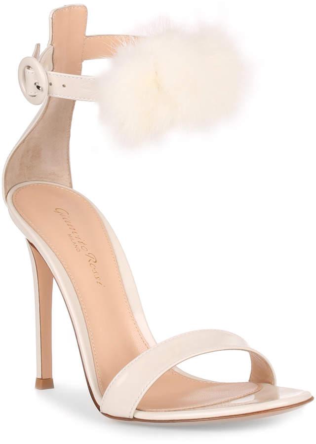 Gianvito Rossi Brigitte 105 patent off white sandal