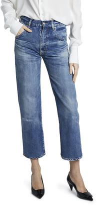 Saint Laurent Distressed Cropped Jeans