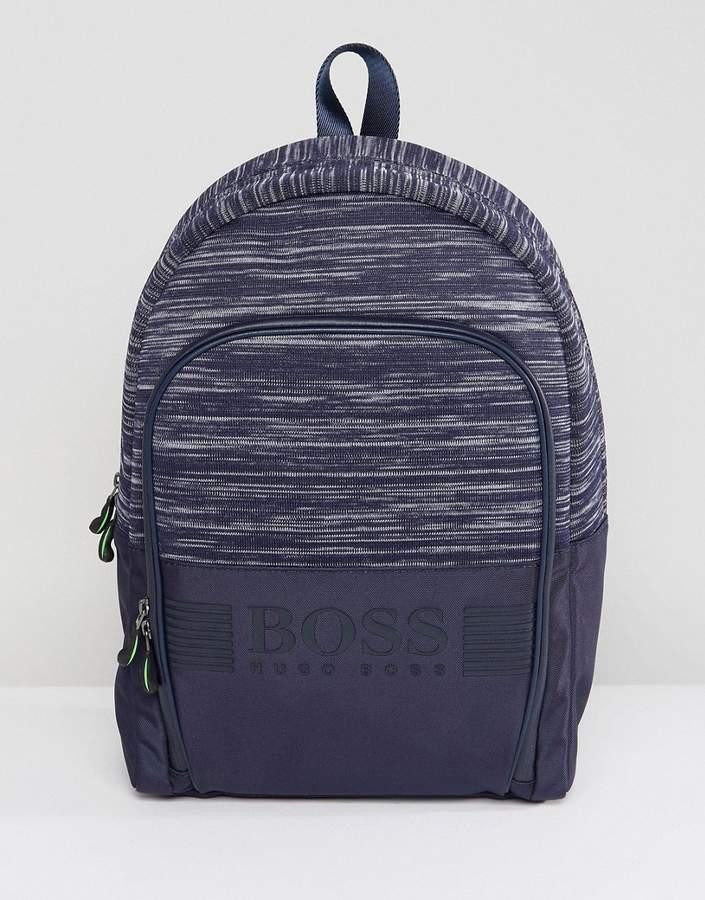 BOSS Space Dye Backpack in Navy
