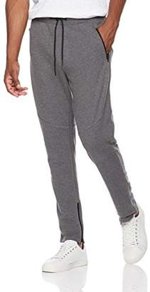 Rebel Canyon Young Men's Slim Leg French Terry Jogger Sweatpant With Exposed Pocket Leg Zippers