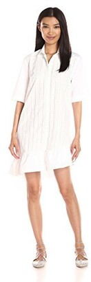 Thakoon Women's Ruffle Hem Shirt Dress