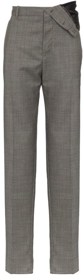 Y/Project Y / Project asymmetric wool-blend trousers