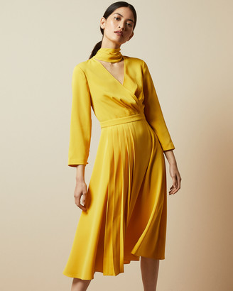 Ted Baker JILLIIE Tie neck midi dress