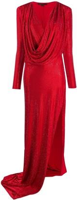 Philipp Plein Long-Sleeve Wrap Dress