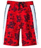 Tommy Hilfiger Boys' Kito Hibiscus Colorblock Swim Trunk.
