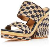 Tory Burch Women's Lola Woven Jute & Leather High Heel Slide Sandals