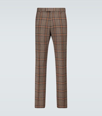 Dries Van Noten Checked wool cropped pants