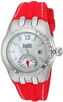 Elini Barokas Women's 'Genesis Vision' Swiss Quartz Stainless Steel and Silicone Automatic Watch, Color:Red (Model: 20029-02-RDS)