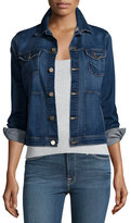 Frame Le Jacket Piping Button-Front Denim Jacket, Shore Coast
