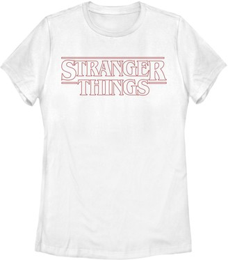 Licensed Character Juniors' Stranger Things Logo Outline Tee