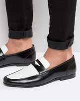 Asos Loafers In Black Leather