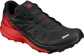 Salomon Unisex S-Lab Sense Ultra Running Sneakers, Black Mesh, Manmade, 4.5 D
