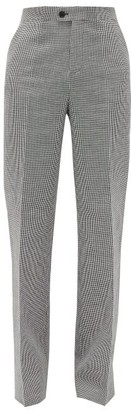 Altuzarra Higbie High-rise Linen-blend Wide-leg Trousers - Black White