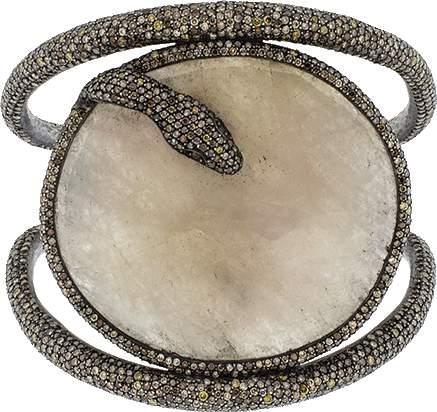 Yossi Harari Dalia Snake Cuff Bracelet