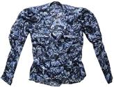 Balenciaga Blue Silk Top