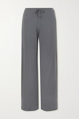 Skin Guinevere Organic Pima Cotton-jersey Pants - Gray