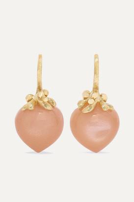 OLE LYNGGAARD COPENHAGEN Dew Drops 18-karat Gold Moonstone Earrings - one size
